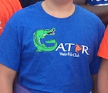 Gator Water Polo Blue Shirt