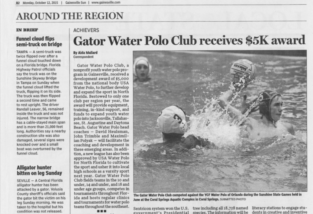 Gator Water Polo, Gainesville FL