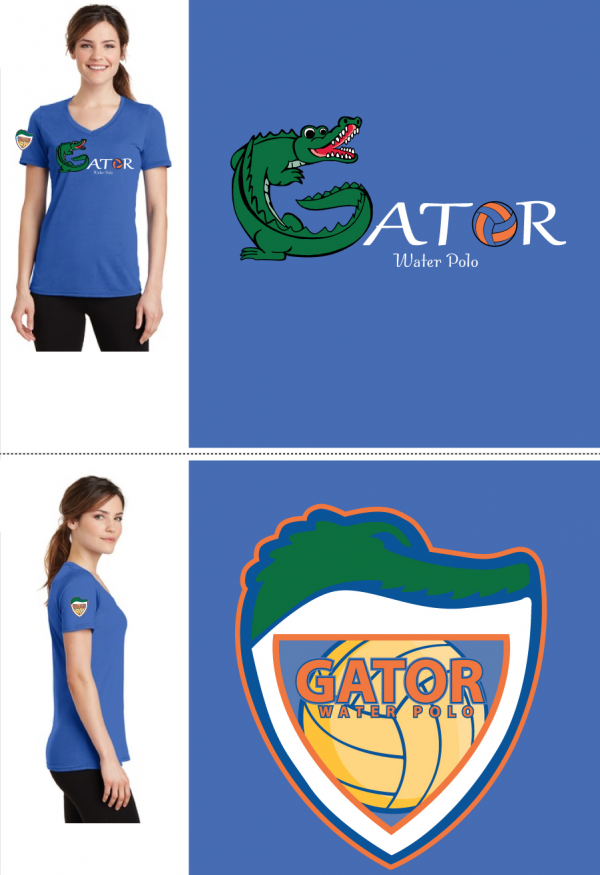 Female V-Neck Blue t-Shirt